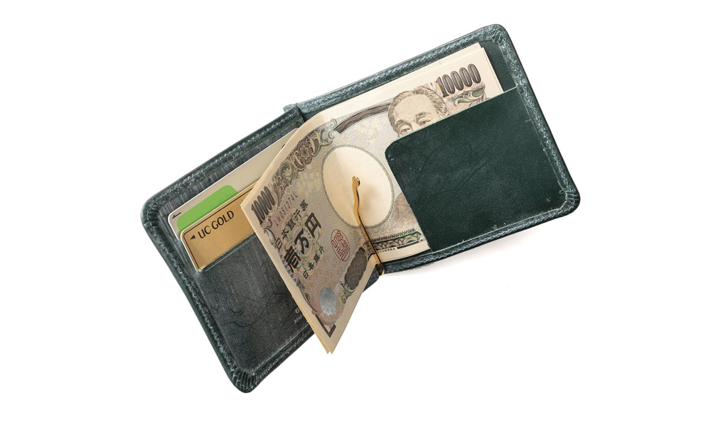 GLENROYAL/グレンロイヤル ジップコインポケット付きマネークリップ