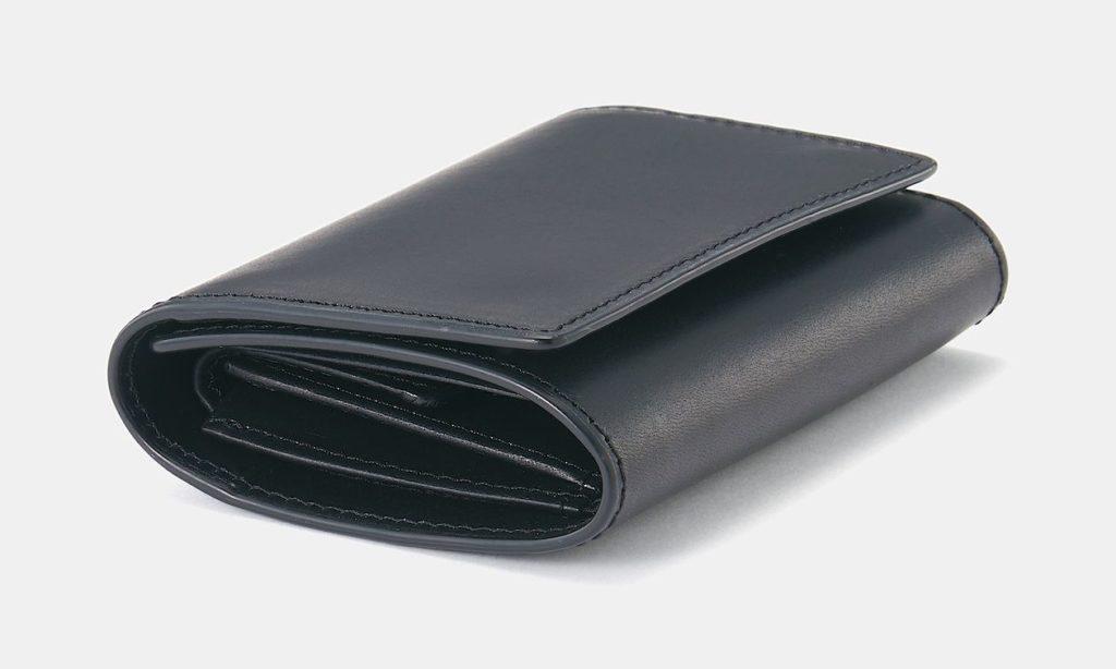 無印 イタリア産ヌメ革 三つ折り財布